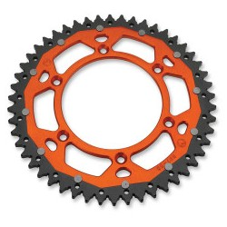 DUAL REAR SPROCKET ORANGE 51dts